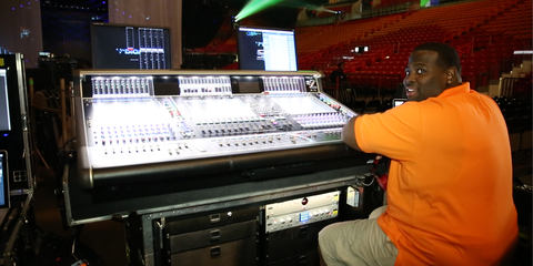 Kyle Hamilton at Janet Jackson Tour