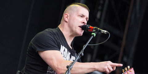 This image shows Annihilator performing with LEWITT microphones