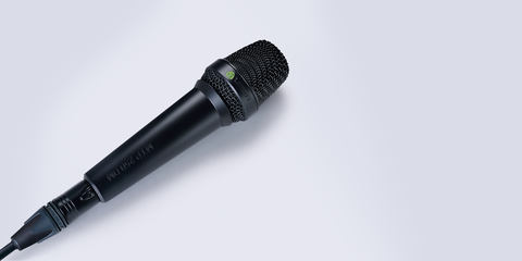 This image shows the MTP 250 DM dynamic handheld microphone