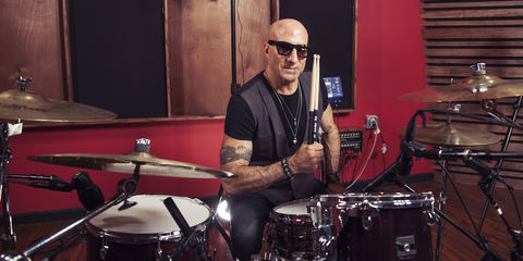 Kenny Aronoff at the huge LEWITT microphone shootout