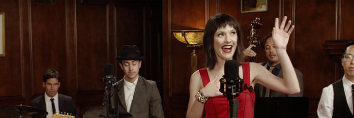 Postmodern Jukebox recording their Live Sessions with LEWITT microphones