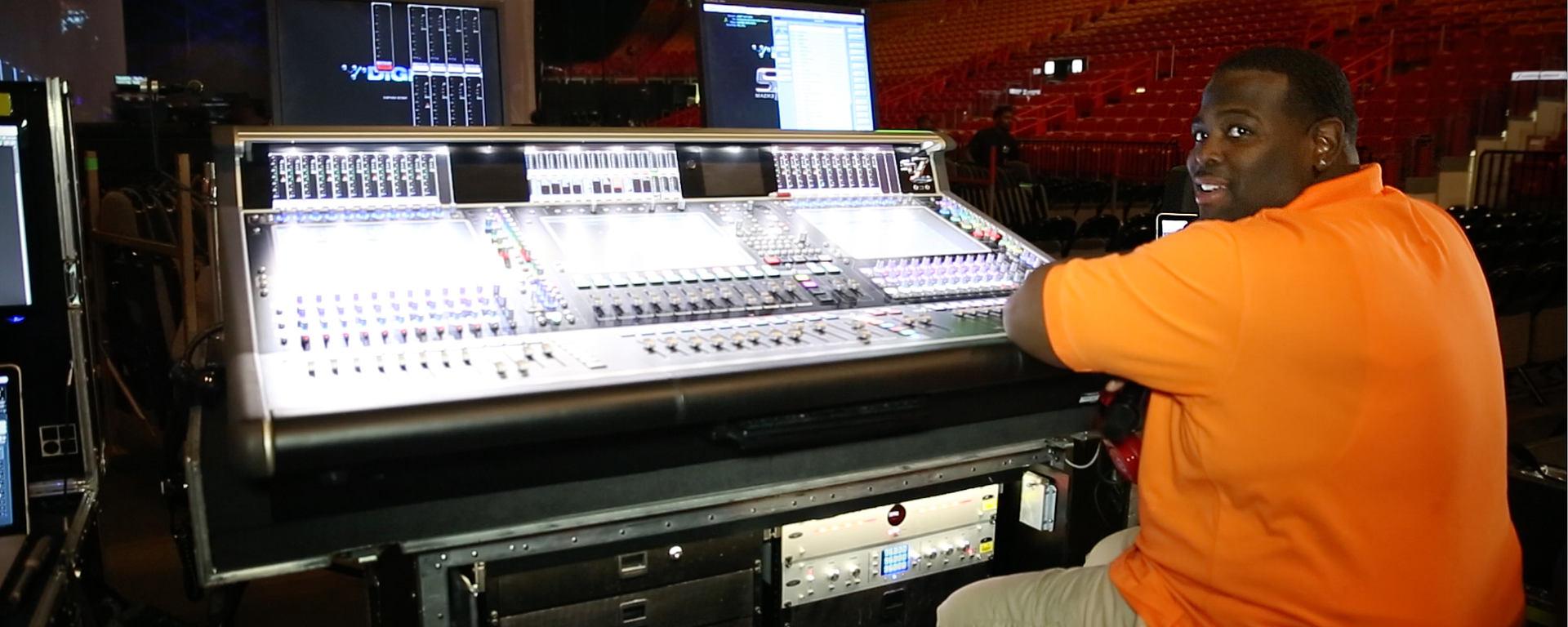 Kyle Hamilton at Janet Jackson Tour