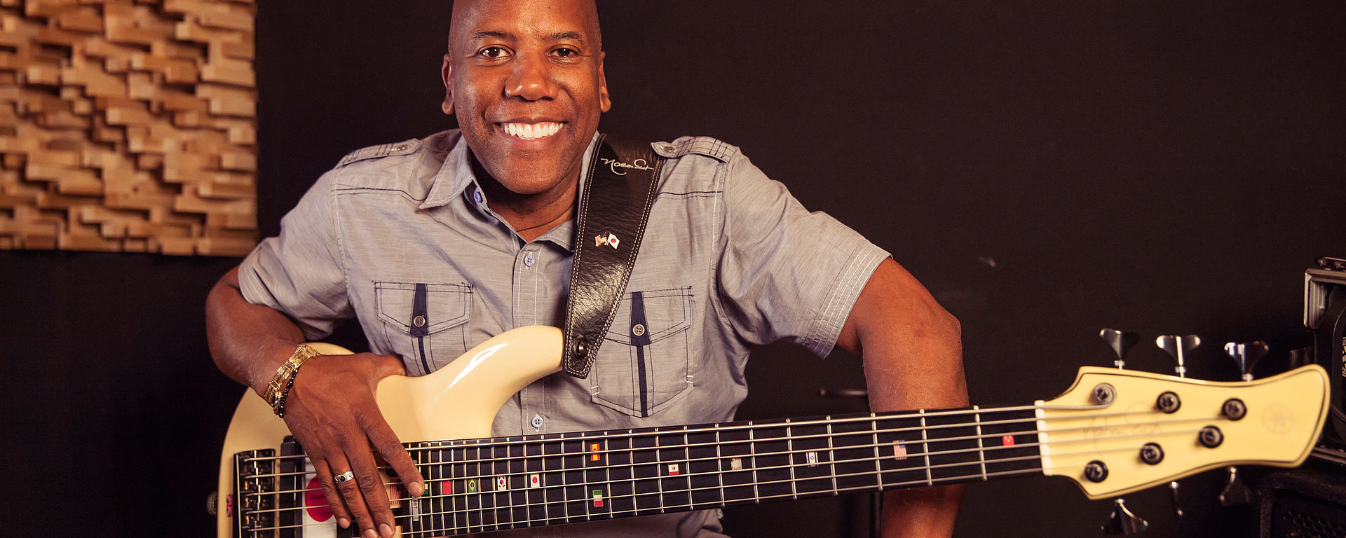 Nathan East with his Bass